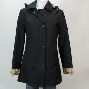 Burberry London Raincoat w Hood Nova Check Liner 8